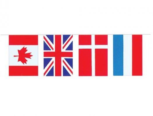 Guirnalda recta banderas internacional pvc 3m