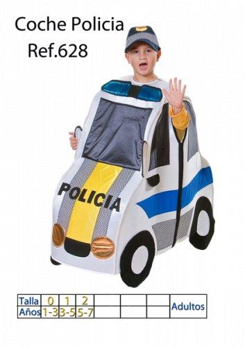 Disfraz de Coche de policía infantil talla 3 a 5 años