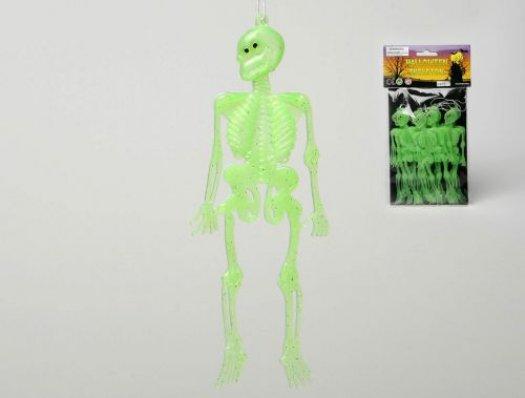 10 colgantes fluorescentes esqueletos