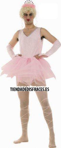 Disfraz de Bailarina Rosa hombre talla M