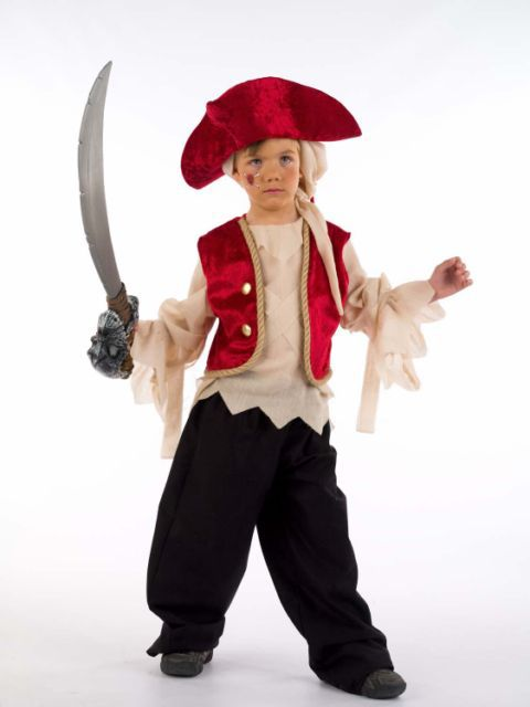 Traje de pirata para niño casero - Imagui