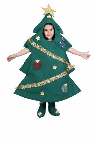 Disfraz de Árbol de Navidad infantil 7-9 años, talla 3