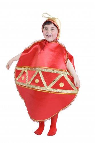 Disfraz de Bola Navideña infantil 5-7 años, talla 2