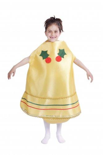 Disfraz de Campana Navideña infantil talla 3-5 años, talla 1