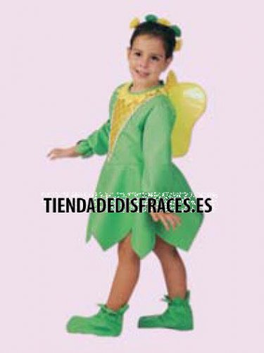 Disfraz de Campanilla, talla 3-5 años