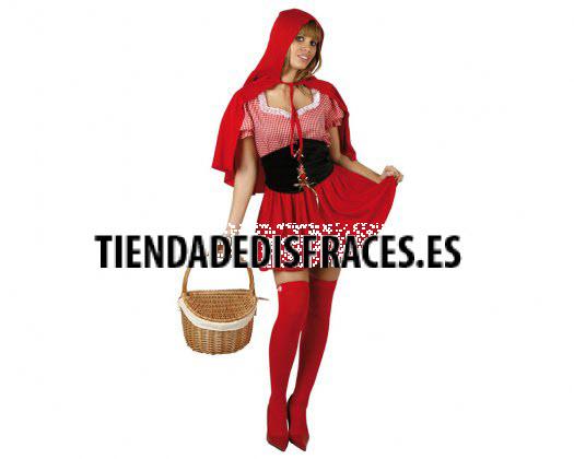 Disfraz de caperucita roja, Talla 2 (M-L)