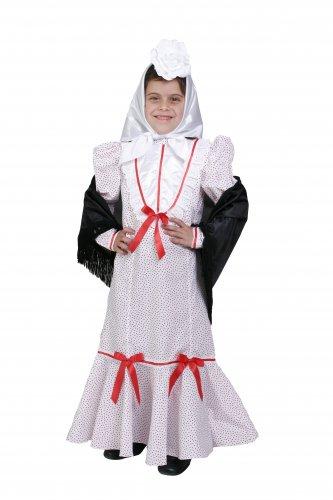 Disfraz de Madrileña infantil talla 7 a 9 años, talla 3