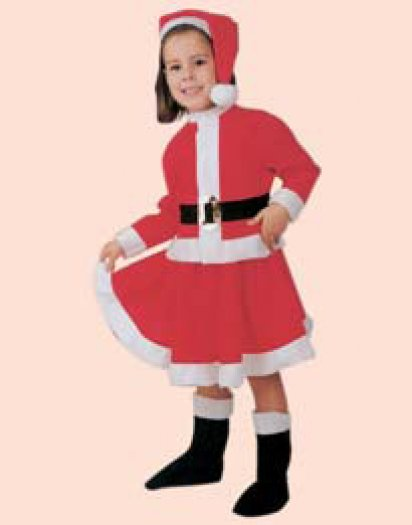 Disfraz de Mama Noel infantil, talla 3-5 años