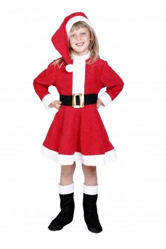 Disfraz de Mamá Noel infantil 5-7 años, talla 2