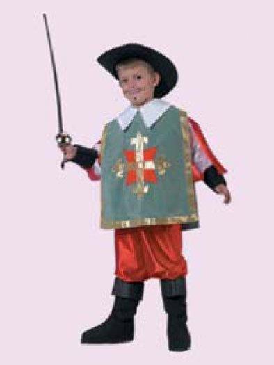 Disfraz de Mosquetero infantil, talla 1-3 años