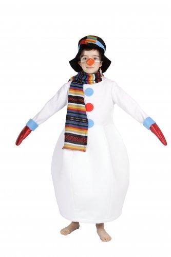Disfraz de Muñeco de Nieve infantil 7-9 años, talla 3