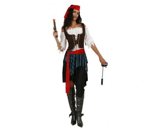 Disfraz de Mujer Pirata Adulto Económico