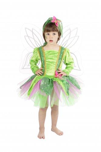 Disfraz de Ninfa del bosque infantil talla 3 a 5 años, talla 1