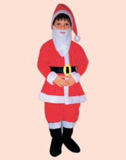 Disfraz de PapaNoel Preschool Pelele T-1-3 Años
