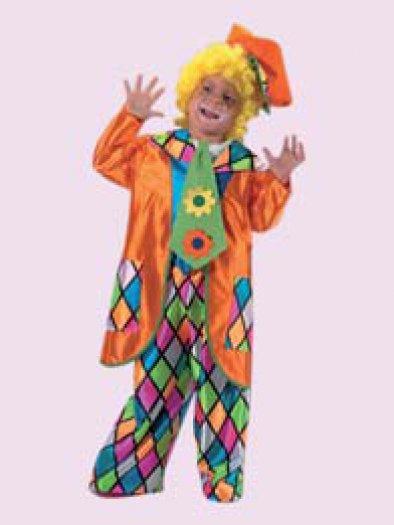 Disfraz de Payaso naranja infantil, talla 1-3 años