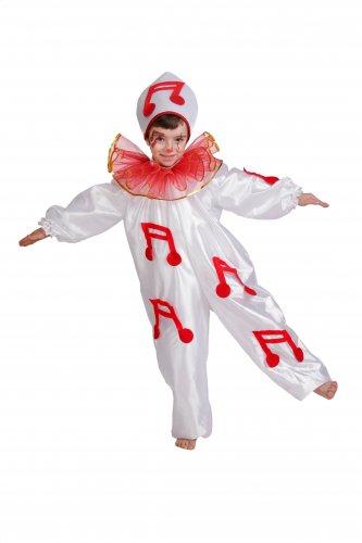 Disfraz de Pierrot infantil talla 5 a 7 años, talla 2