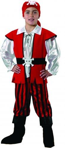 Disfraz de Pirata niño infantil talla 5 a 7 años, talla 2