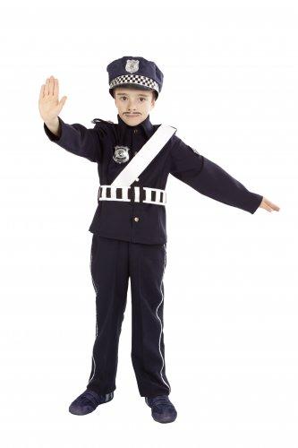 Disfraz de Policía Infantil 3 a 5 años, talla 1
