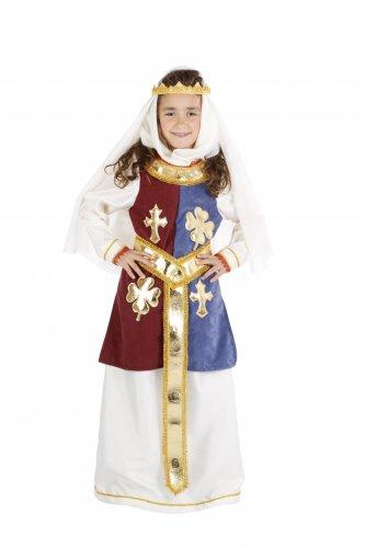 Disfraz de Reina Ginebra infantil talla 5 a 7 años, talla 2