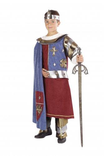 Disfraz de Rey Arturo infantil talla 7 a 9 años, talla 3