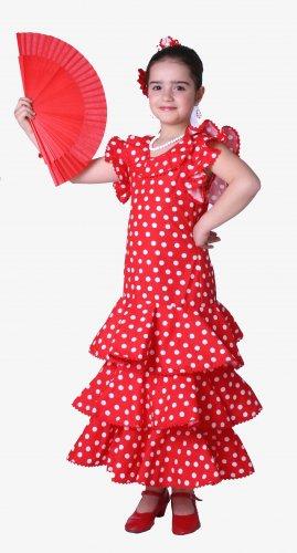 Disfraz de Sevillana especial infantil talla 9-11 años, talla 4