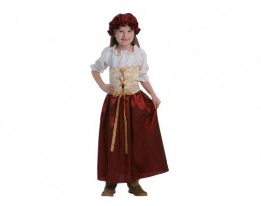 Disfraz de Tarbernera Medieval niña 4-6 años