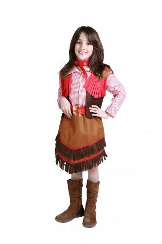 Disfraz de Vaquera infantil talla 7 a 9 años, talla 3