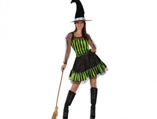 Disfraz de bruja verde adulto XL