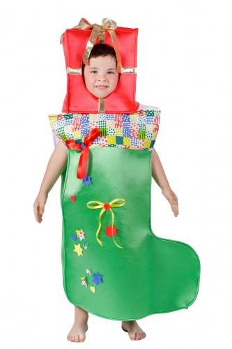 Disfraz de calcetín de Navidad talla 1 (3-5 años)