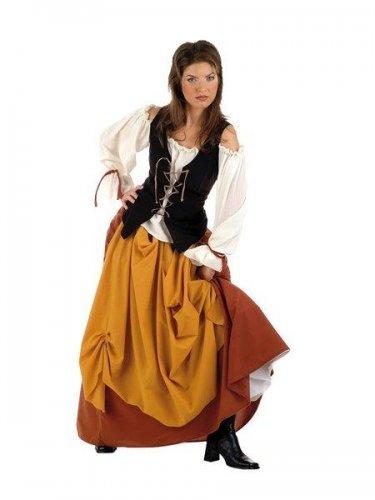 Disfraz de campesina medieval Talla M