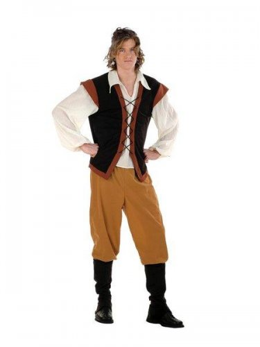 Disfraz de campesino medieval Talla M