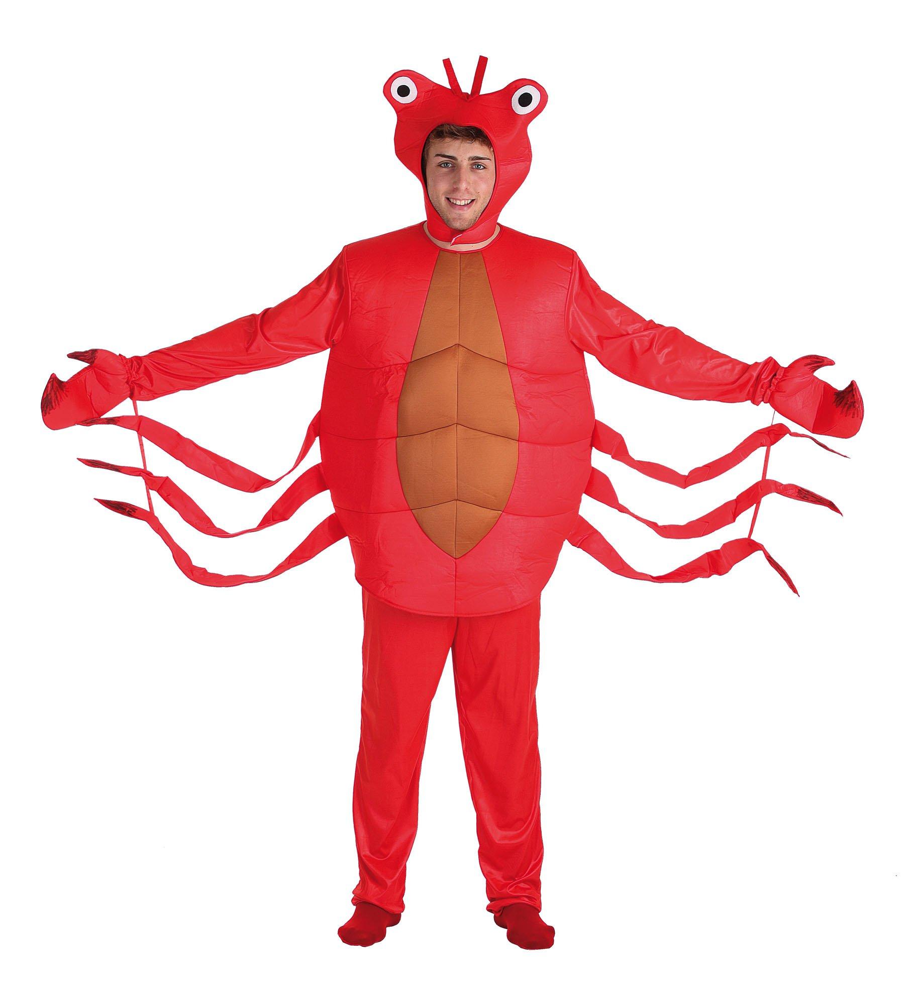 Disfraz de cangrejo rojo adulto