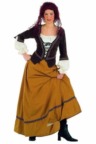 Disfraz de cantinera medieval Talla XL
