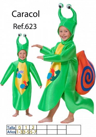 Disfraz de caracol para niño talla 3 a 5 años