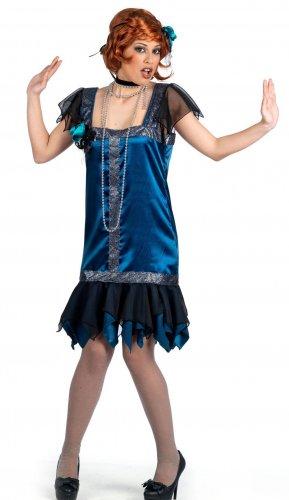 Disfraz de charleston azul Talla XS