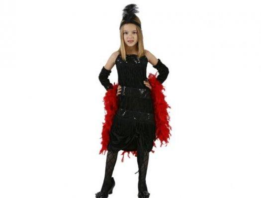 Disfraz de charlestón negro, 3-4 años