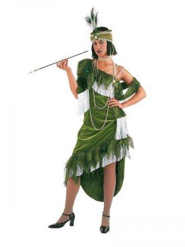 Disfraz de charleston verde