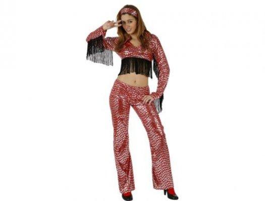 Disfraz de chica discotequera adulto