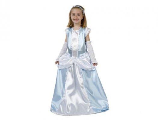 Disfraz de dama antigua azul, 10-12 años