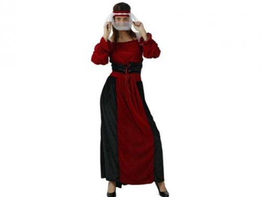 Disfraz de dama cortesana medieval adulto