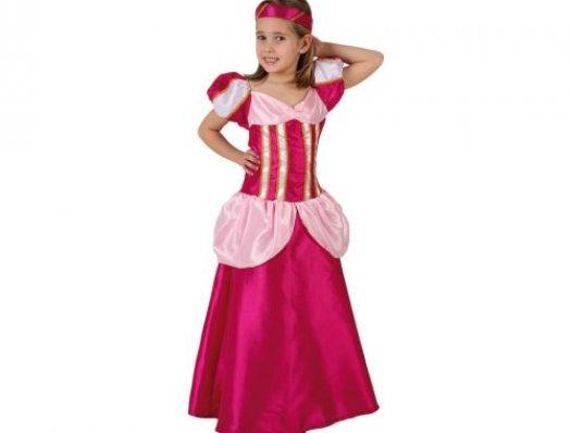 Disfraz de dama medieval rosa, 10-12 años