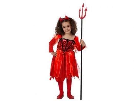 Disfraz de demonia de lujo, t-1 (3-4 años)