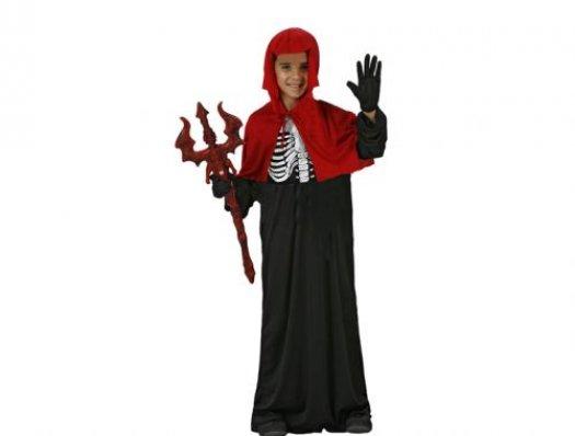 Disfraz de demonio esqueleto, 10-12 años talla 4