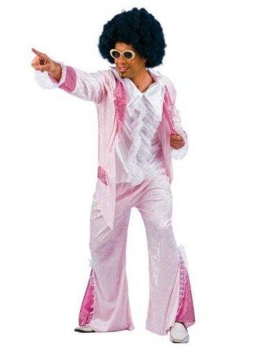 Disfraz de disco años 60 rosa