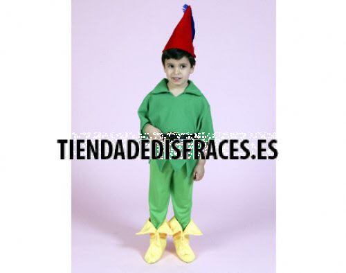 Disfraz de duende verde para niño 3 a 4 años