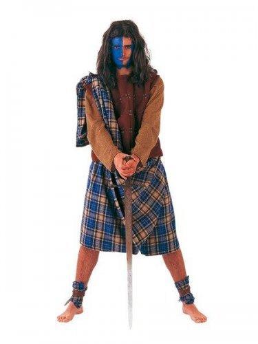 Disfraz de escocés guerrero Talla L