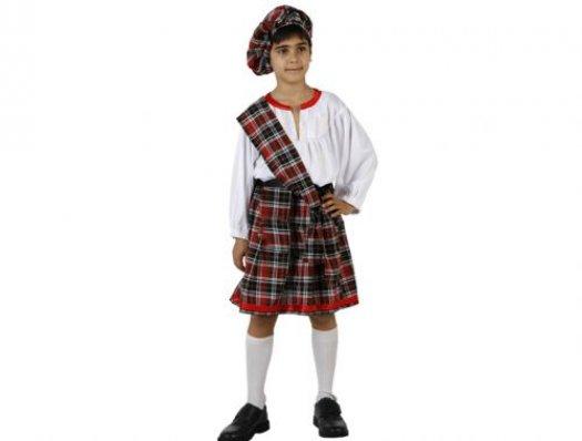 Disfraz de escoces niño 10-12 años talla 4