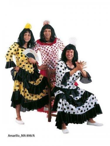 Disfraz de flamenca amarilla/negra