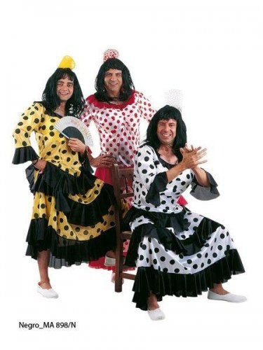 Disfraz de flamenca blanca/negra