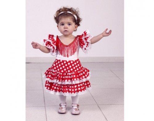 disfraz de flamenca para nia rojo aos